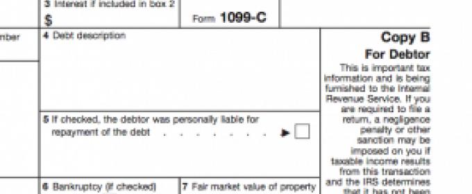 Form 1099c Barearsbackyard